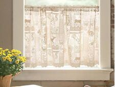 "Cafe Woodland Patch Nature Country Lace Wilderness Window Cafe Tier 60""x30"""
