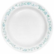 """Corelle COUNTRY COTTAGE 15-oz Flat Rimmed SOUP BOWL 8 1/2 Green Blue Lot of """"6"""""""