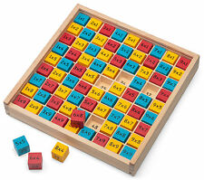 Wooden Times Table Multiplication Board Educational Gift Maths Aid
