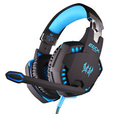 Professional Gaming Headphone Headset Stereo Bass LED for PC Gamer BU