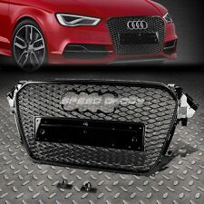 RS STYLE BLACK ABS FRONT BUMPER HONEYCOMB GRILL GUARD FOR 12-16 AUDI A4/S4 B8.5