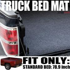"Grey/Blk Truck Bed Cargo Box Floor Mat Carpet Kit 04-14 Ford F150 Truck 6.5'/78"""