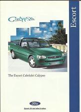 FORD ESCORT SPECIAL EDITION CABRIOLET CALYPSO SALES BROCHURE 1995
