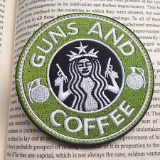 "TACTICAL  3.5"" GUNS AND COFFEE AIRSOFT PAINTBALL MORALE HOOK& LOOP PATCH"