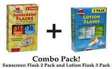 Sunscreen + Lotion Flask Combo Pack! 2 8oz Sunscreen + 3 4oz Lotion Flasks