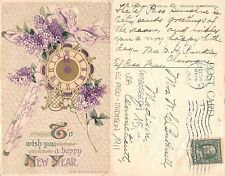 Wishing You a Happy New Year EMBOSSED SENT USA EL PASO MADISON 1911 (A-L 136)