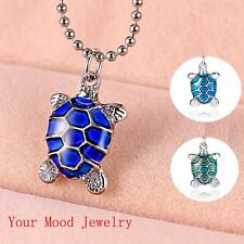 NEW Rhinestones Turtle Color Change Thermo Mood Pendant Necklace Friends Gift
