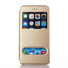 Etui Housse Coque Pochette Or Doré Gold View Case Apple Iphone 6 6S  4,7""