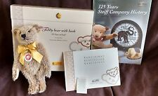 STEIFF TEDDY BEAR 25 CINNAMON WITH BOOK 125 YEARS - EAN 038860 -  NEW IN BOX