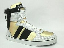 Radii Mens Shoes High Tops Sneakers White Gold Black US 12 EU 47 EUC Ccol!
