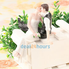Romantic Kissing Funny Bride and Groom Couple Wedding Cake Topper Figurine