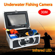 "30m 7"" LCD Infrared IP68 1000TVL Underwater Fishing Video Camera Ice Fish Finder"