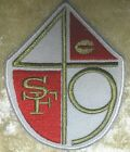 "San Francisco 49ers Shield 3.5"" Iron On Embroidered Patch ~USA Seller~FREE Ship"