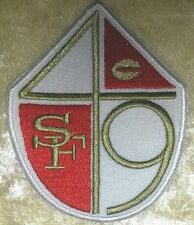 """San Francisco 49ers Shield 3.5"""" Iron On Embroidered Patch ~USA Seller~FREE Ship"""