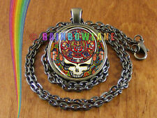 Grateful Dead Skull Rock Band Music Necklace Pendant Jewelry Charm Gift Gifts