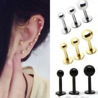 2pcs Stainless Steel Women Mens Bar Stud Piercing Barbell Lip Nail Body Earrings