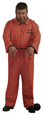 Adult Mens Prisoner Orange Jumpsuit Costume Set One Size Halloween Outfit Party