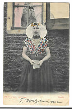 Vintage Dutch Lady in Traditional Costume, Goes PPC, Undivided Back, 1906 PMK