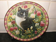 THE FOUR SEASONS CAT PLATE  -   DELABOLE IN SPRING   - DANBURY MINT