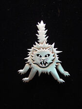 """""""JJ"""" Jonette Jewelry Silver Pewter 'Spooked HALLOWEEN Cat' Pin"""