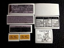 "HONDA CB750K  HONDA CB750 FOUR K 1977-1978 ""WARNING KIT DECAL"""