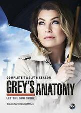New&Sealed Grey's Anatomy: Complete Twelvth Season 12  (DVD-2016)