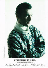 PUBLICITE ADVERTISING 074  1990  CERRUTTI 1881   boutique pulls homme
