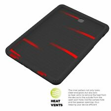 Turtle Skin Bottom Air Vents Protective Case for Samsung Galaxy Tab A 9.7 Black