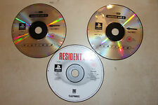2 x PS1 PLAYSTATION 1 PSone GAMES CD DISCS ONLY RESIDENT EVIL 1 I & 2 / II PAL