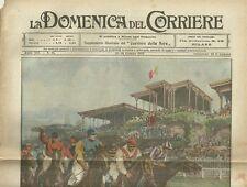 La Domenica del Corriere 19 - 26 Giugno 1910 Premio Ambrosiano San Siro Milano