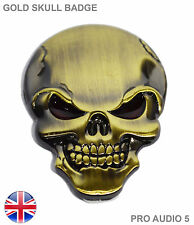 Gold crâne aile badge coffre corps badge universel pour voiture fourgon-uk post