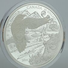 Canada 2014 $50 Aboriginal Legend of the Spirit Bear 5 oz. Pure Silver Proof