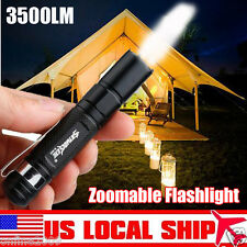 Mini 4000LM Flashlight ZOOMABLE CREE XML LED 3Mode Torch AAA Night Light Lamp US