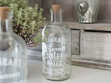 LAVENDER WATER ANTIQUE FRENCH CHIC  GLASS JAR  BATHROOM BOTTLE CHRISTMAS STORAGE