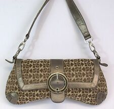 The Sak Pink Label Gold Fabric Easy Carry Shoulder Bag Clutch Great Condition