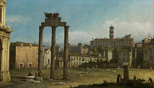 Ruine of the Forum, rome Bernardo Bellotto italie rome ruines piliers B a3 00859