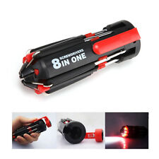 8 in 1 Multi Screwdriver Repair Tools Set w/ 6 LED Torch Light Pocket Multi-tool