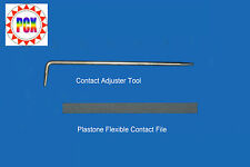 Contact Adjuster Tool and Contact File - aka Leaf or Switch Adjuster