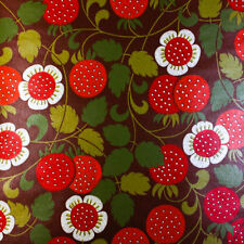 Vintage Original STRAWBERRY FIELDS FOREVER 60s 70s Mid Century Modern Wallpaper