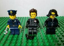 LEGO Minifiure Lot Series 9, 15 & 16 Police Officer Spy Jewel Theif Robber Set