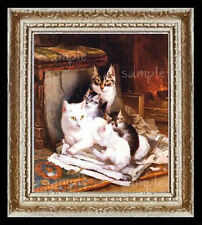 Happy Litter of  Kittens Miniature Dollhouse Picture