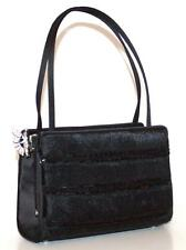SALE JUDITH LEIBER $1735 Black Evening Bag Silver Butterfly Pony Hair Beads NEW