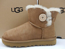 UGG WOMENS BOOTS MINI BAILEY BUTTON II CHESTNUT SIZE 9