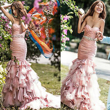 NEW Champagne Mermaid Quinceanera Dresses Cocktail Evening Prom Party Ball Gown