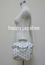 BAO BAO ISSEY MIYAKE TONNEAU-1 2Way Bag ( small ) White Baobao From Japan New