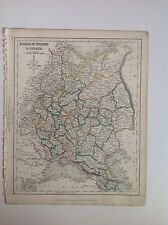 Russia In Europe  & Poland c1850 Original Antique Map Gilberts Modern Atlas