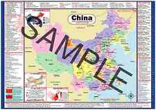 China USA 2-sided Small Desk Map 1-12 Learn-A-Map