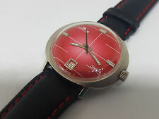 USED VINTAGE FORTIS SKYLARK RED DIAL DATE AUTO MAN'S WATCH