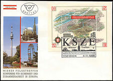 Austria 1986 Security & Co-Op Conference M/S FDC First Day Cover #C24230