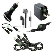 7 pc Kit Black USB Cable+Car+Wall AC Charger for Amazon Kindle Fire HDX 7.0 8.9""